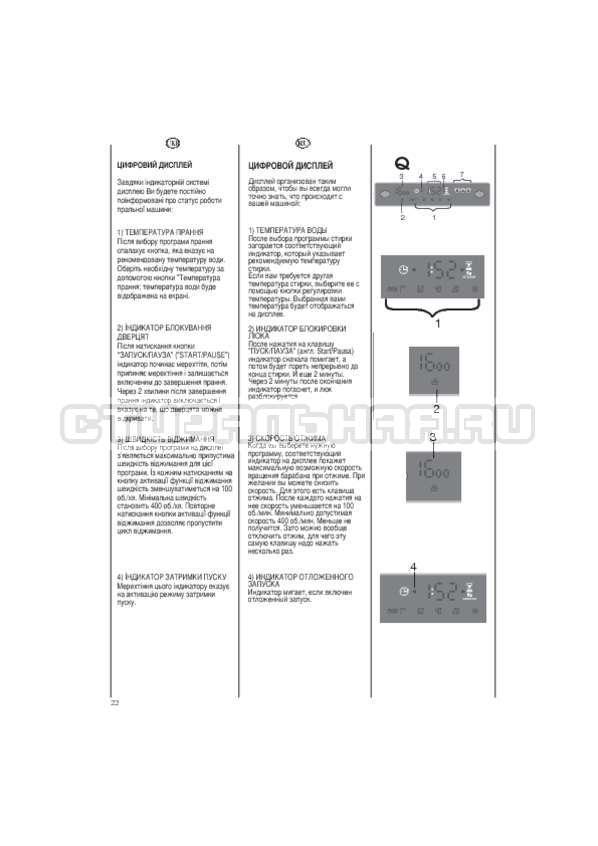 Инструкция Candy EVO44 1283 DW страница №22