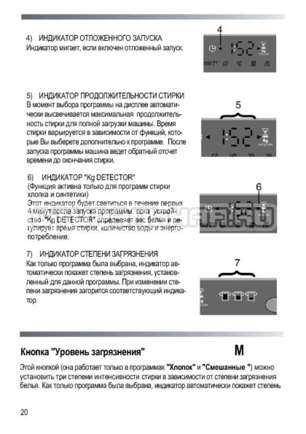 Инструкция Candy EVO44 1283DSW страница №20