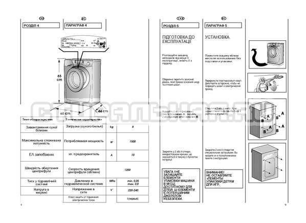 Инструкция Candy EVO44 1284 LW страница №5