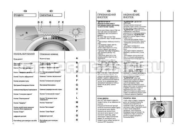 Инструкция Candy EVO44 1284 LW страница №7
