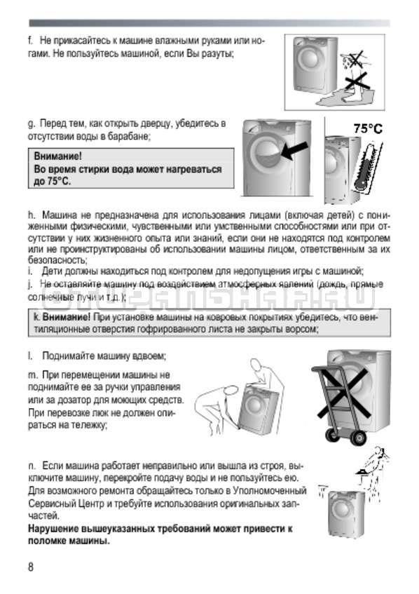 Инструкция Candy GC4 1051 D страница №8