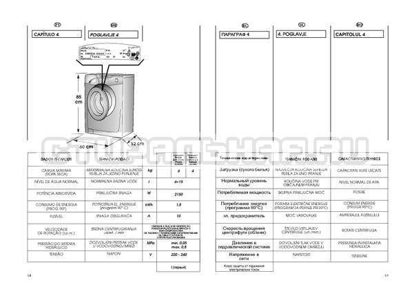 Инструкция Candy GO W264D страница №8