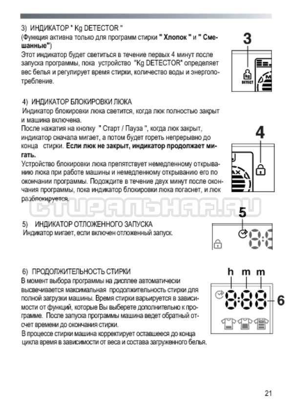 Инструкция Candy GO3E 210 LC страница №21