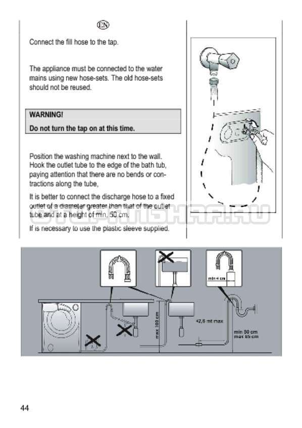 Инструкция Candy GO4 1064 D страница №44