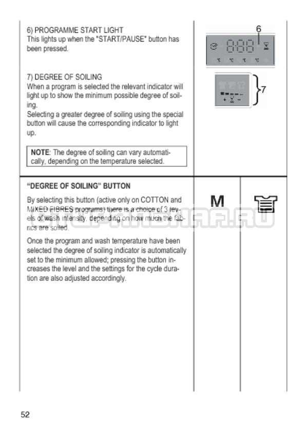 Инструкция Candy GO4 1064 D страница №52