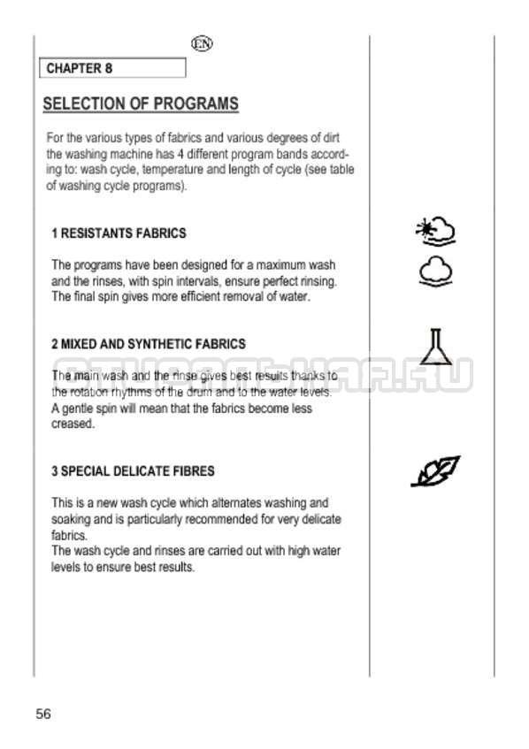Инструкция Candy GO4 1064 D страница №56