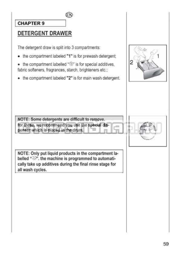Инструкция Candy GO4 1064 D страница №59