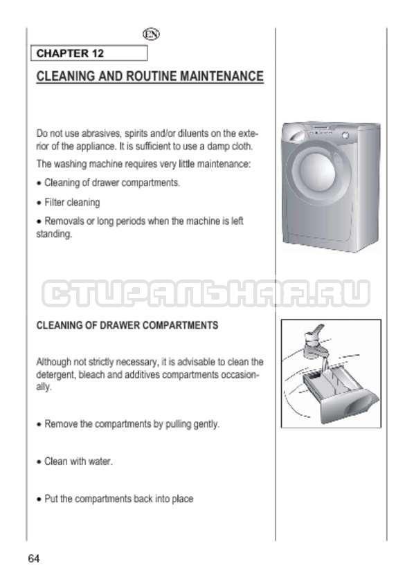 Инструкция Candy GO4 1064 D страница №64