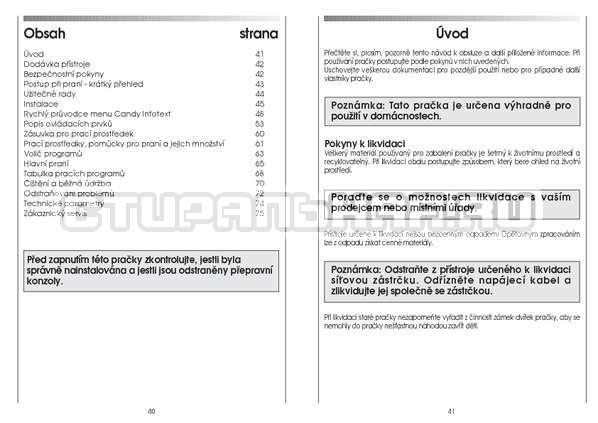 Инструкция Candy GO4 126/1TXT страница №21