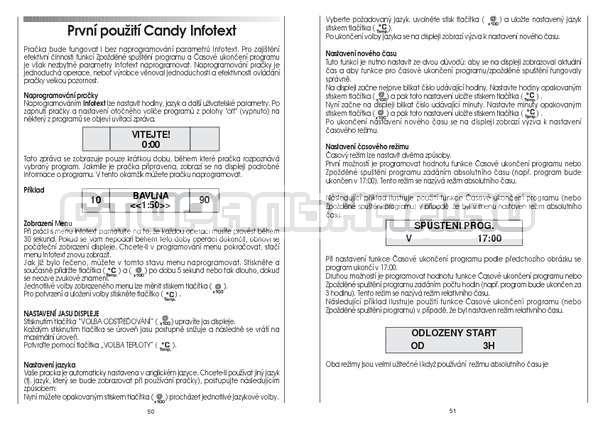 Инструкция Candy GO4 126/1TXT страница №26