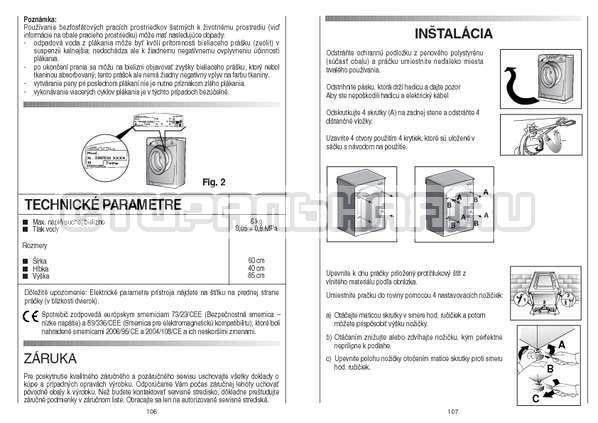 Инструкция Candy GO4 126/1TXT страница №54