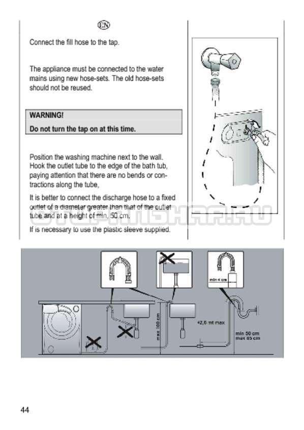 Инструкция Candy GO4 1264 D страница №44