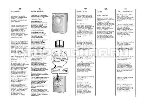 Инструкция Candy GO4 W264 страница №2