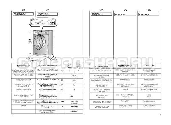Инструкция Candy GO4 W264 страница №8