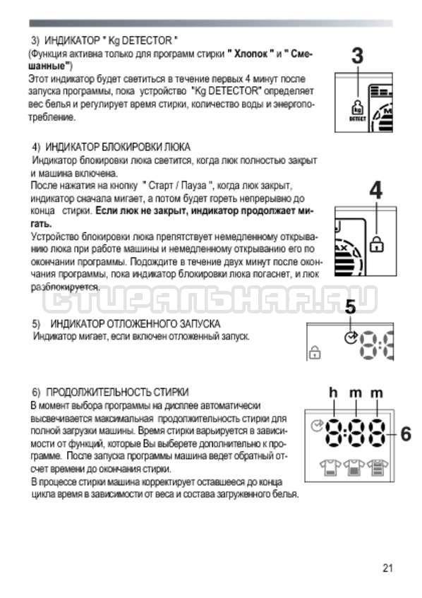 Инструкция Candy GOE 107 LMC страница №21