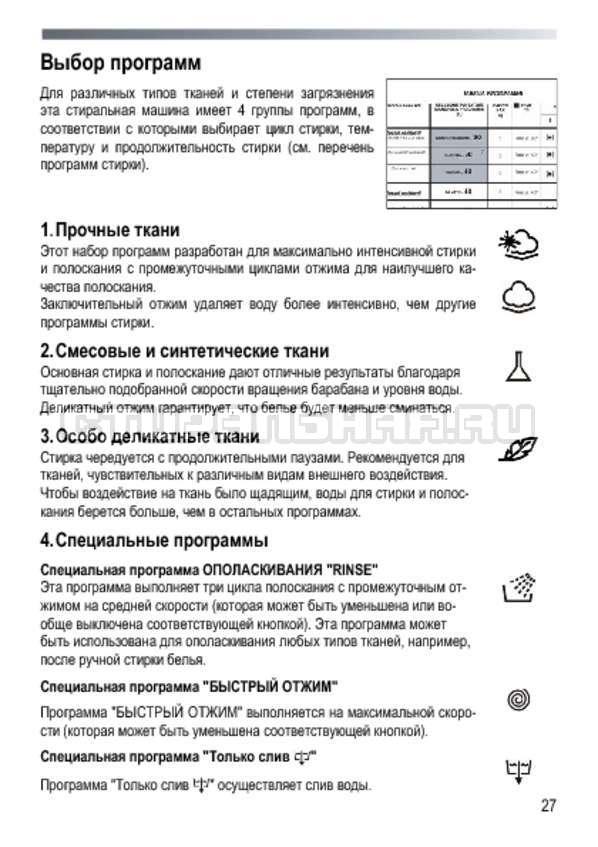Инструкция Candy GOY 105 TXT страница №27