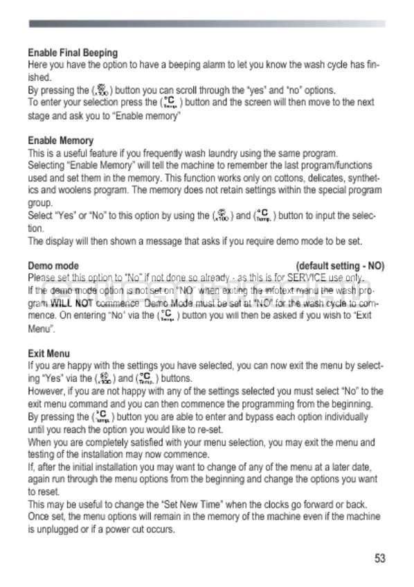 Инструкция Candy GOY 105 TXT страница №53