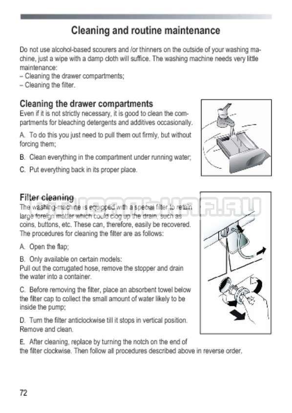 Инструкция Candy GOY 105 TXT страница №72