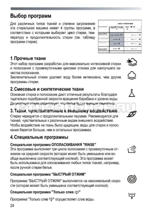 Инструкция Candy GOY 1050 D страница №24