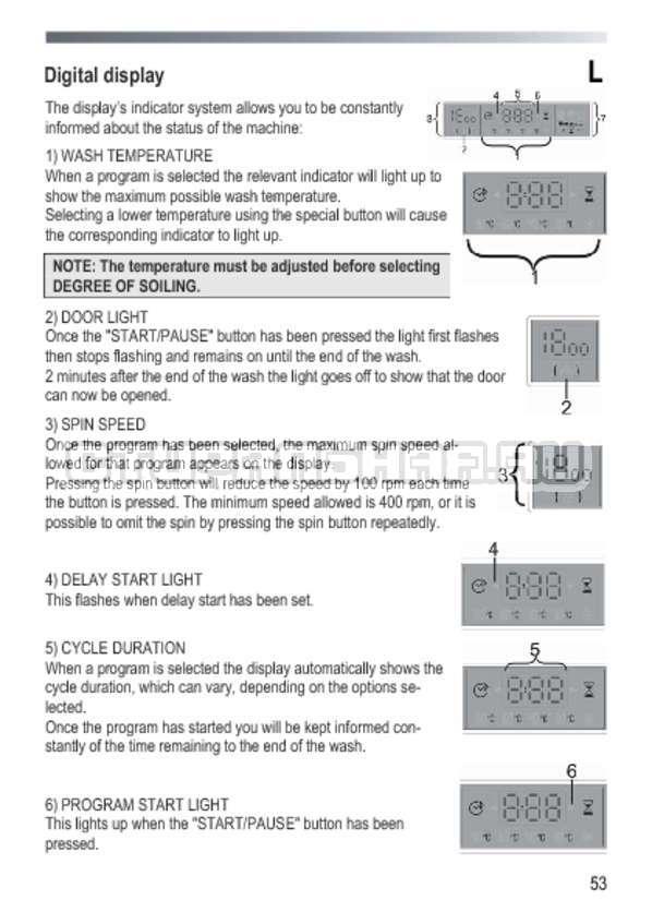 Инструкция Candy GOY 1050 D страница №53