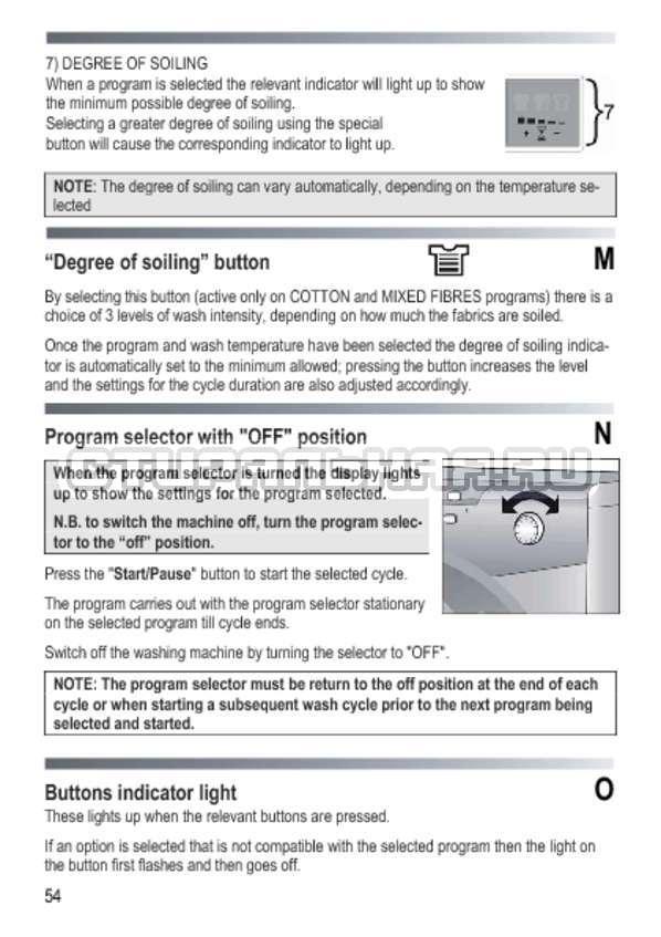 Инструкция Candy GOY 1050 D страница №54