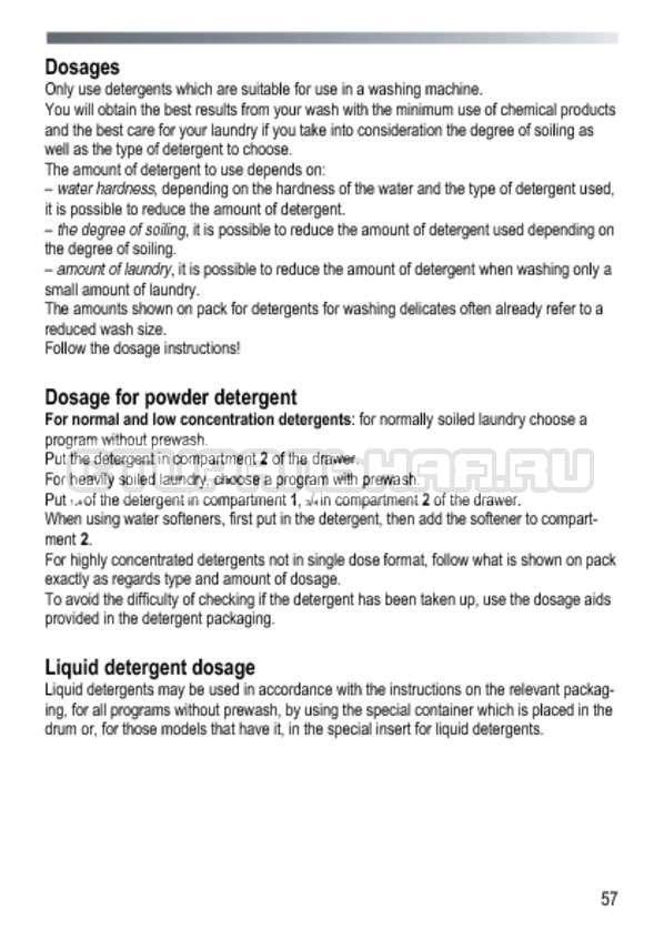 Инструкция Candy GOY 1050 D страница №57