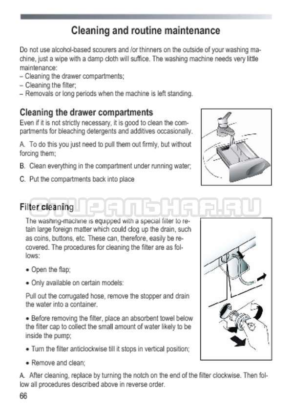 Инструкция Candy GOY 1050 D страница №66