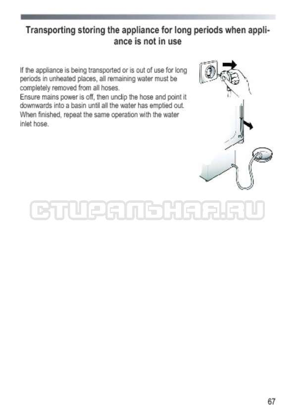 Инструкция Candy GOY 1050 D страница №67