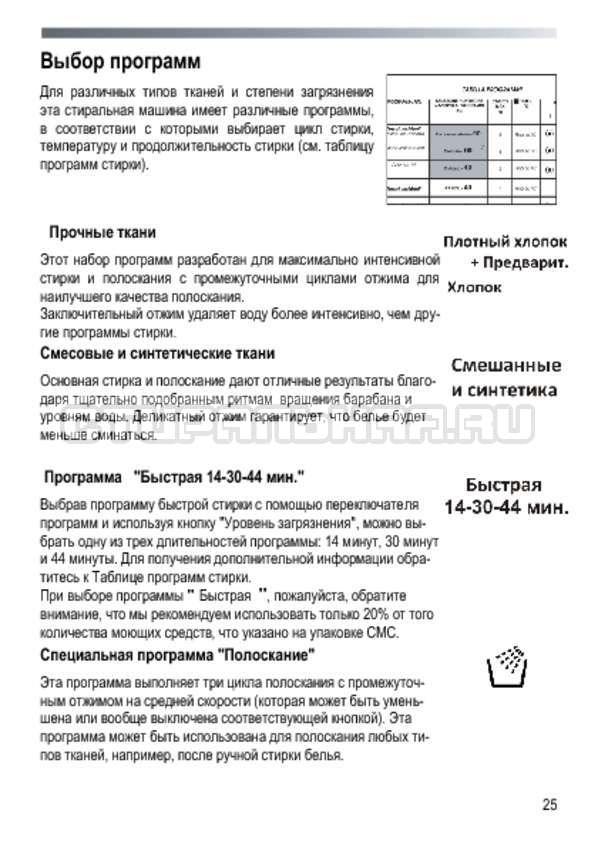 Инструкция Candy GOYE 105 3DS страница №25
