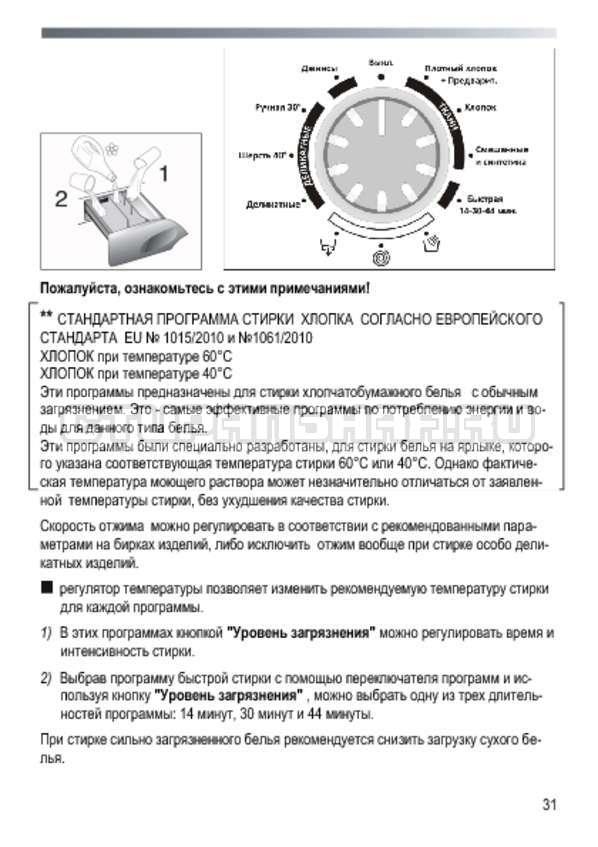 Инструкция Candy GOYE 105 3DS страница №31