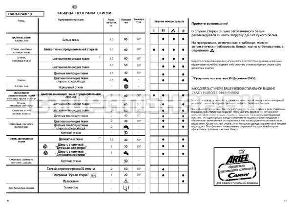 Инструкция Candy HOLIDAY 1002 TL страница №23