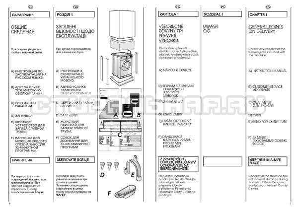 Инструкция Candy HOLIDAY 1002 TL страница №4