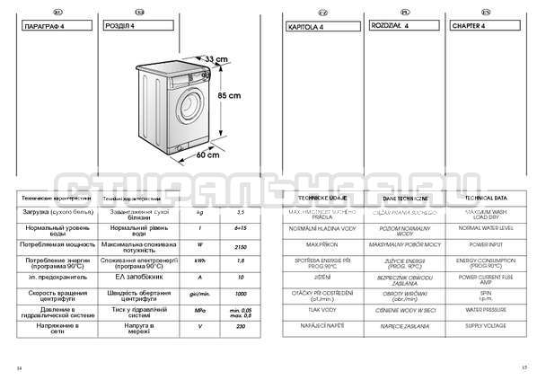 Инструкция Candy HOLIDAY 1002 TL страница №8