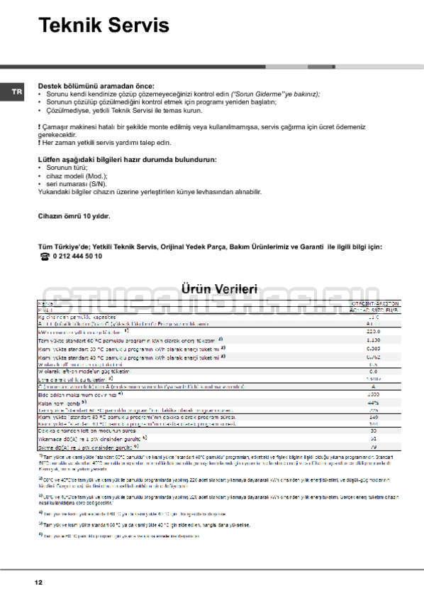 Инструкция Hotpoint-Ariston Aqualtis AQ114D 697D страница №12