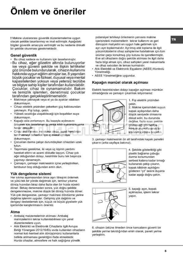 Инструкция Hotpoint-Ariston Aqualtis AQ114D 697D страница №5