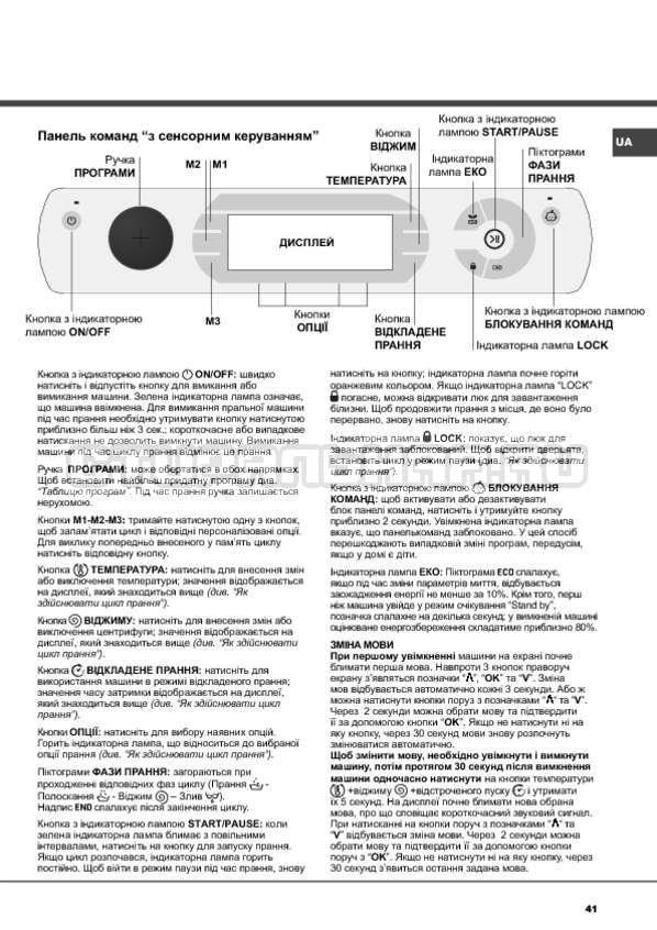 Инструкция Hotpoint-Ariston Aqualtis AQ114D 697D страница №41