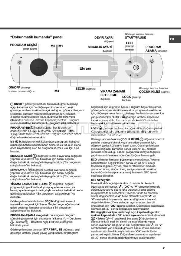 Инструкция Hotpoint-Ariston Aqualtis AQ114D 697D страница №7