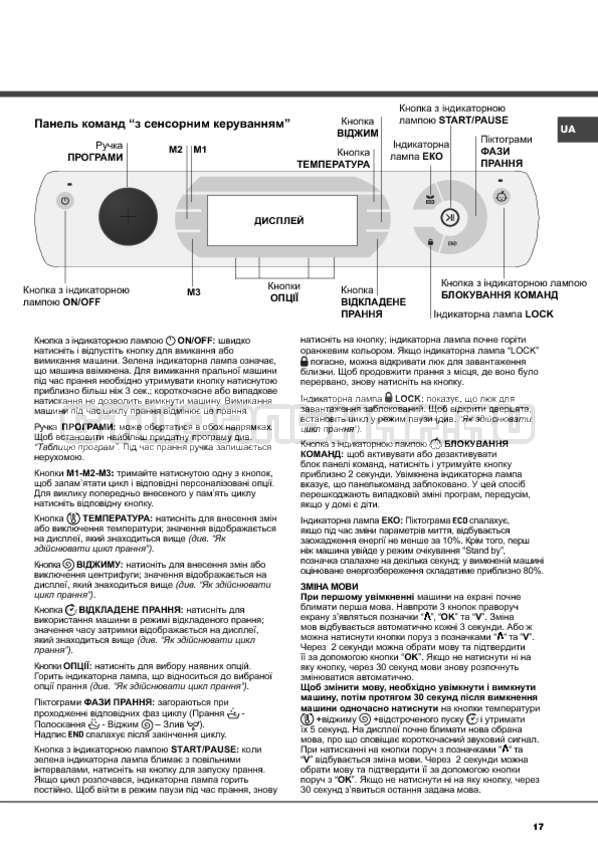 Инструкция Hotpoint-Ariston Aqualtis AQ91D 29 страница №17