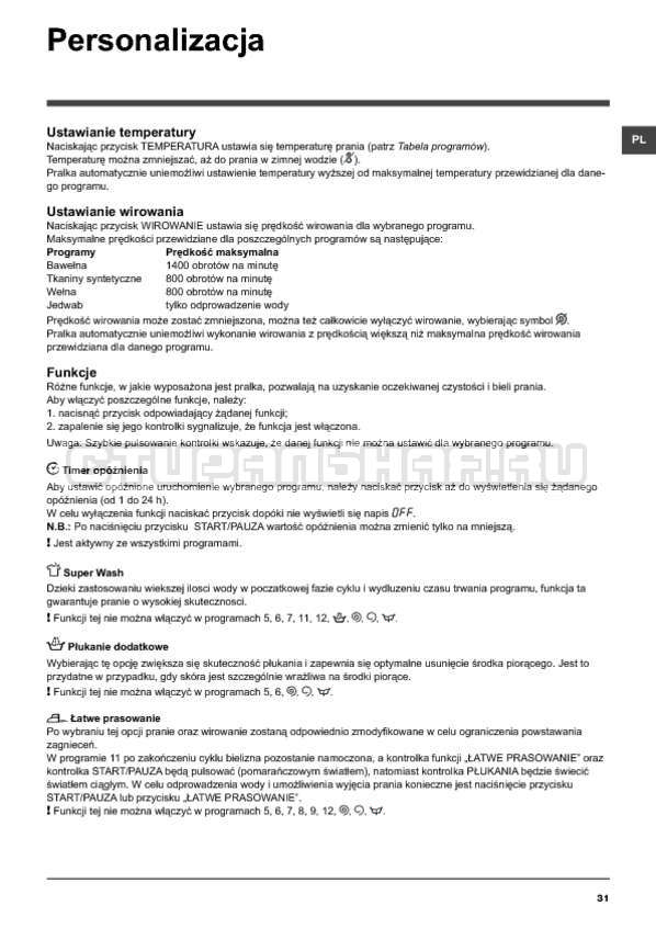 Инструкция Hotpoint-Ariston ARTXF 149 страница №31