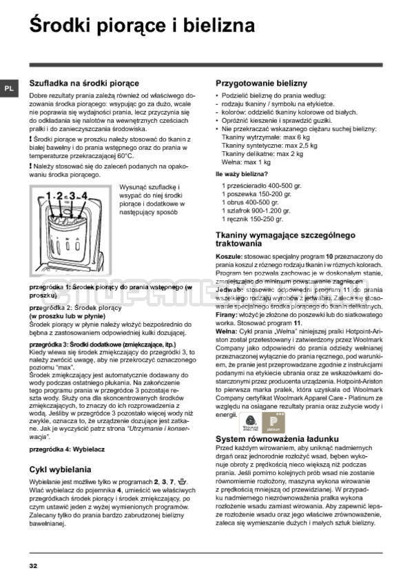 Инструкция Hotpoint-Ariston ARTXF 149 страница №32