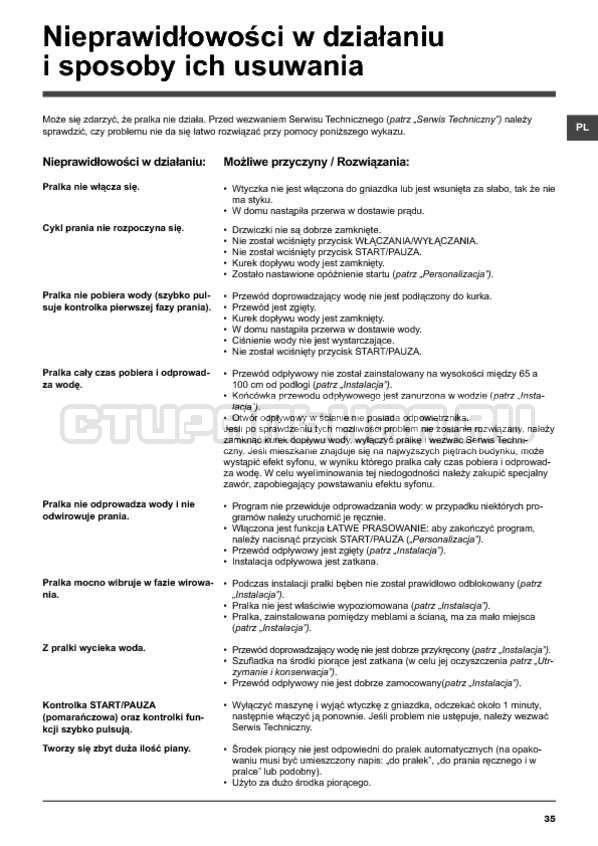 Инструкция Hotpoint-Ariston ARTXF 149 страница №35