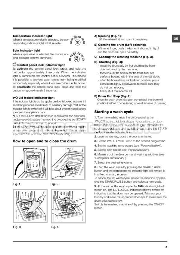 Инструкция Hotpoint-Ariston ARTXF 149 страница №5