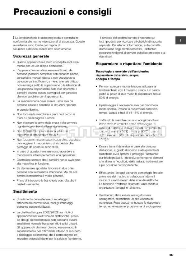 Инструкция Hotpoint-Ariston ARTXF 149 страница №45