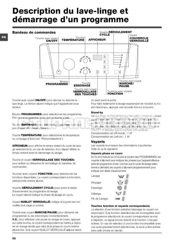 Инструкция Hotpoint-Ariston ARTXF 149 страница №52