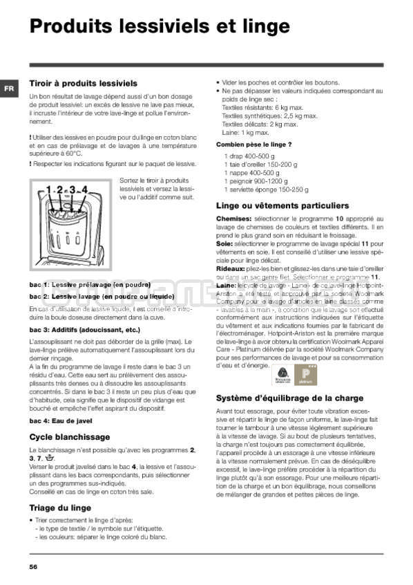 Инструкция Hotpoint-Ariston ARTXF 149 страница №56