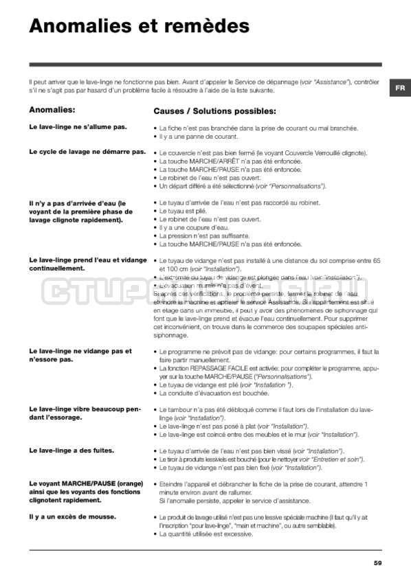 Инструкция Hotpoint-Ariston ARTXF 149 страница №59