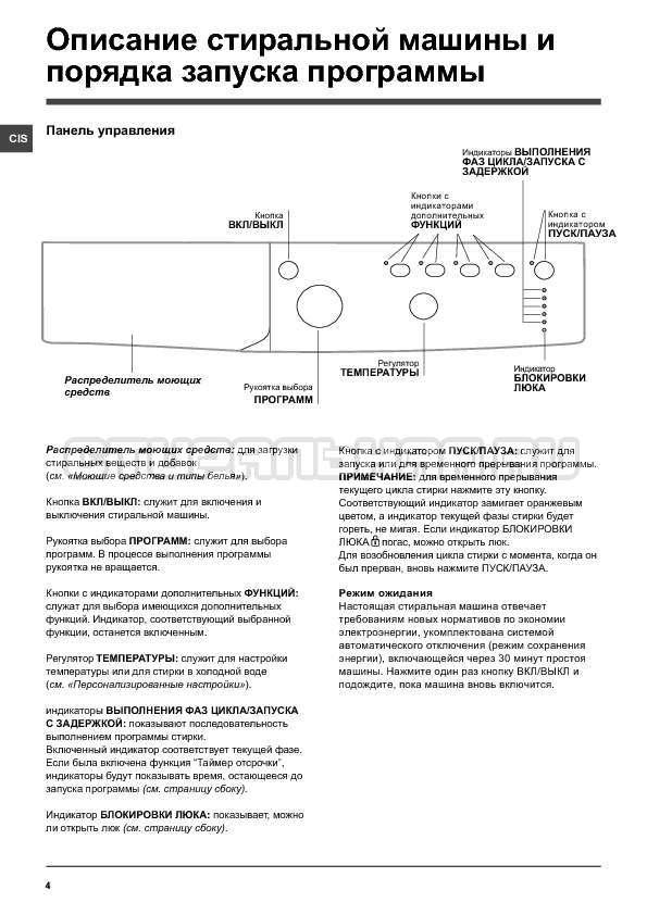 Инструкция Indesit IWB 6085 страница №4