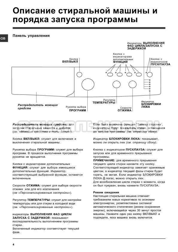 Инструкция Indesit IWC 6105 B страница №4