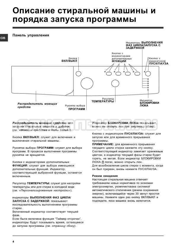 Инструкция Indesit IWSB 5105 страница №4