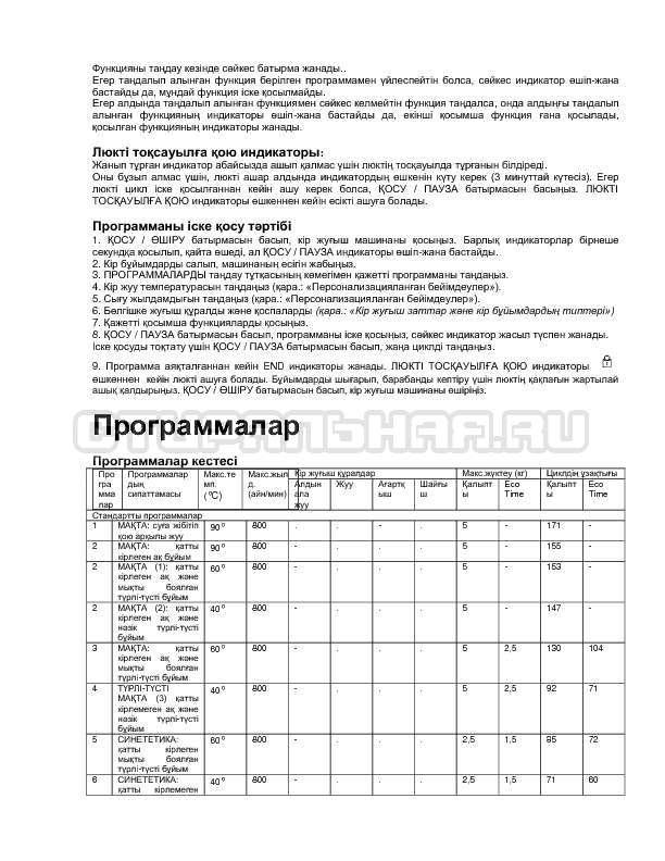 Инструкция Indesit IWSC 5085 SL страница №8